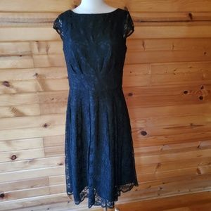 Jones Wear Black Lace Dress